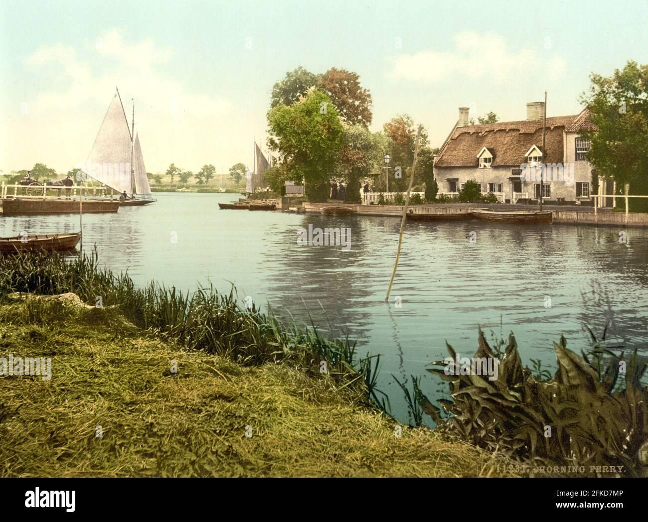 Horning et The River Bure, Norfolk vers 1890-1900 Banque D'Images