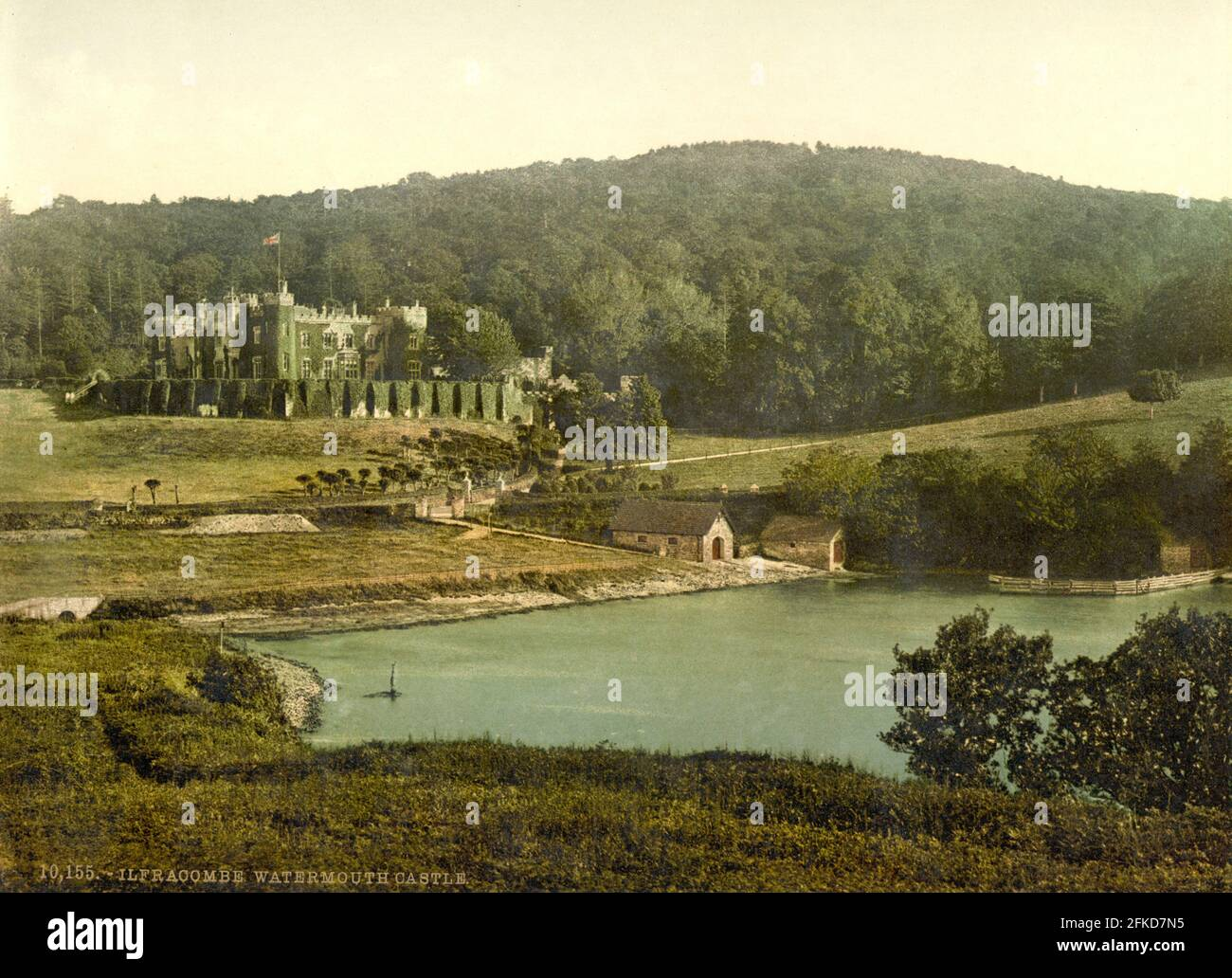 Château de Watermouth, Ilfracombe, Devon vers 1890-1900 Banque D'Images