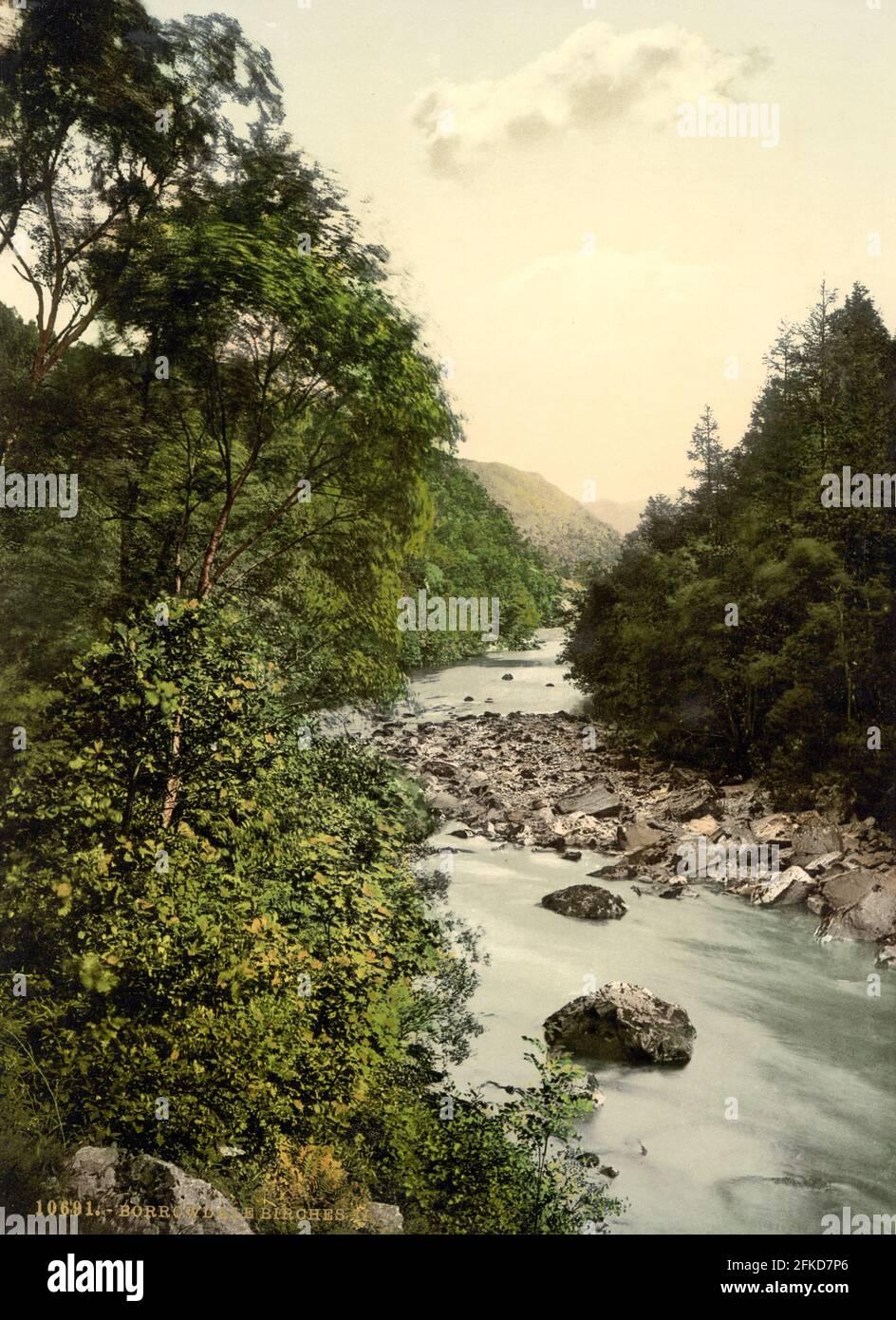 Borrowdale dans le district des lacs, Cumbria vers 1890-1900 Banque D'Images