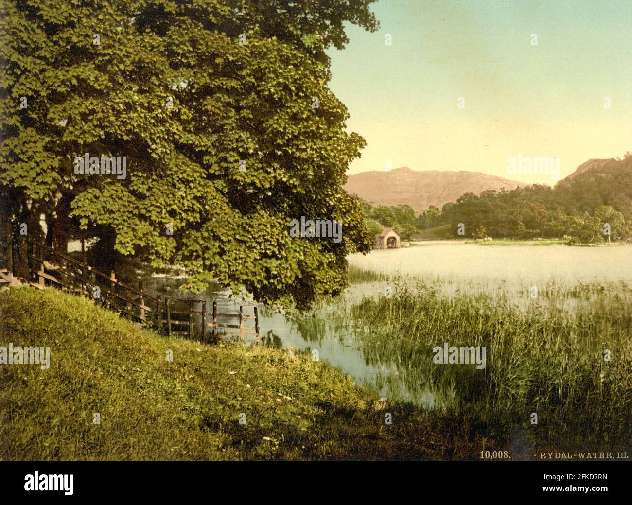 Rydal Water dans le Lake District, Cumbria vers 1890-1900 Banque D'Images