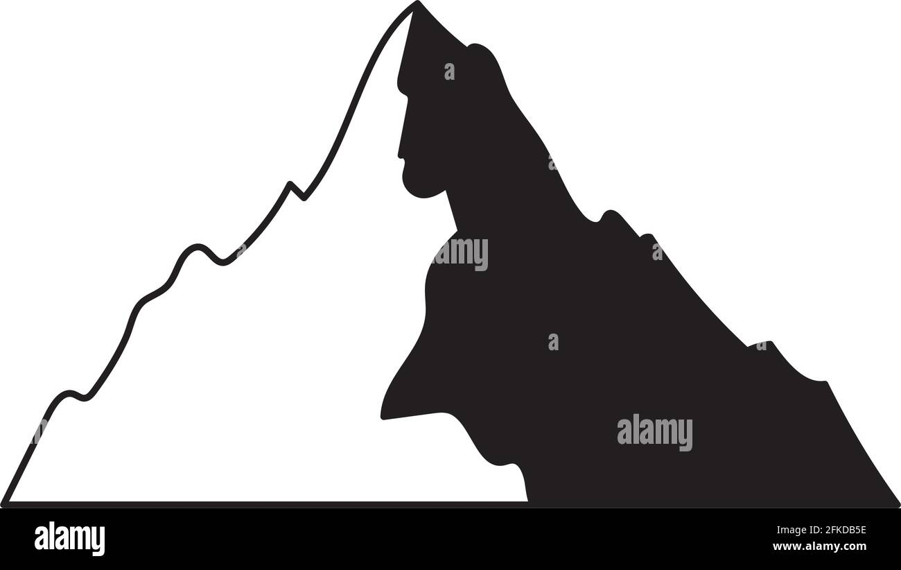 illustration de la silhouette de montagne Illustration de Vecteur