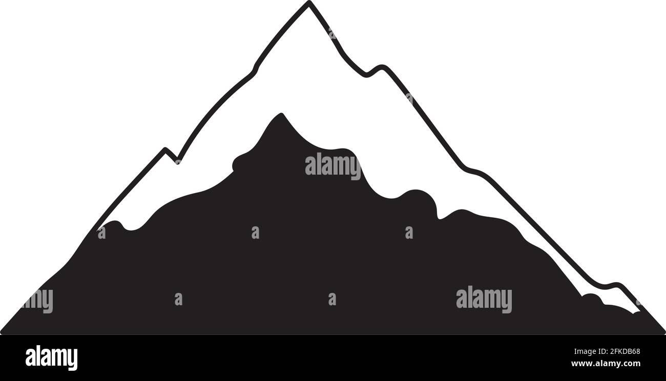 silhouette de montagne mignonne Illustration de Vecteur