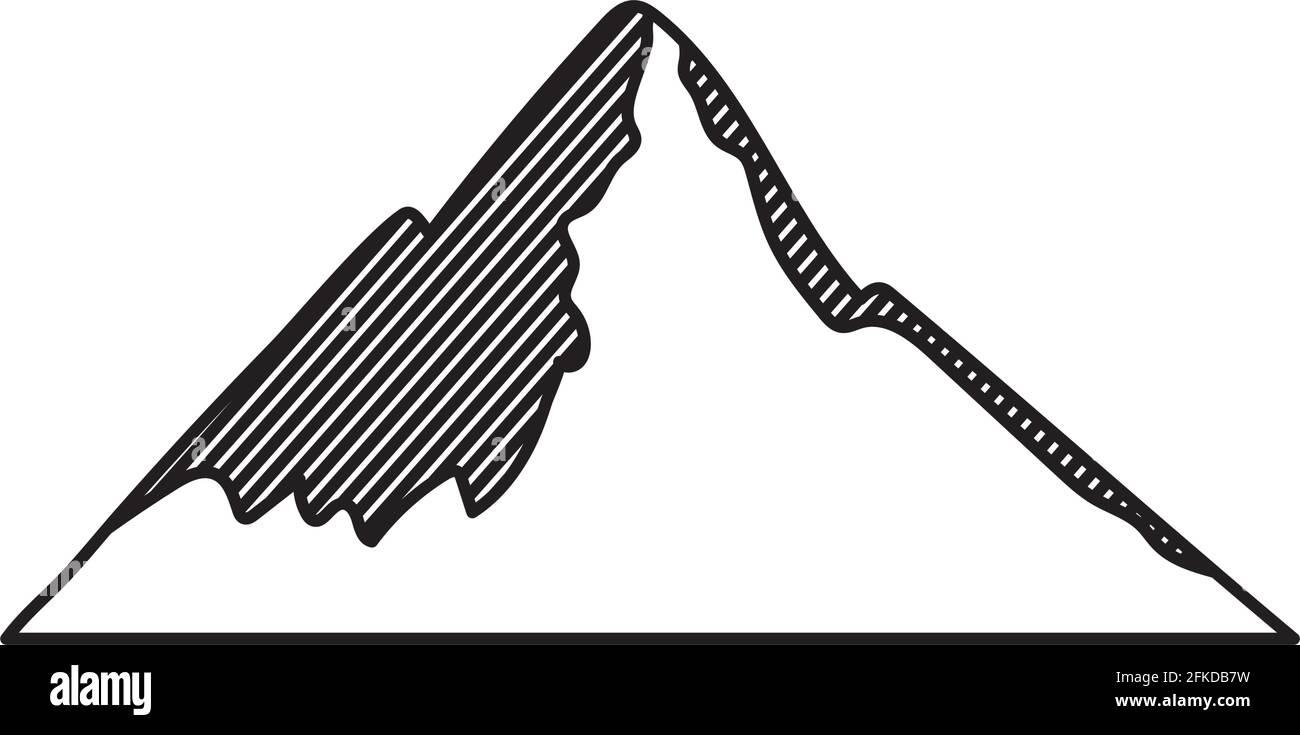 belle conception de montagne Illustration de Vecteur