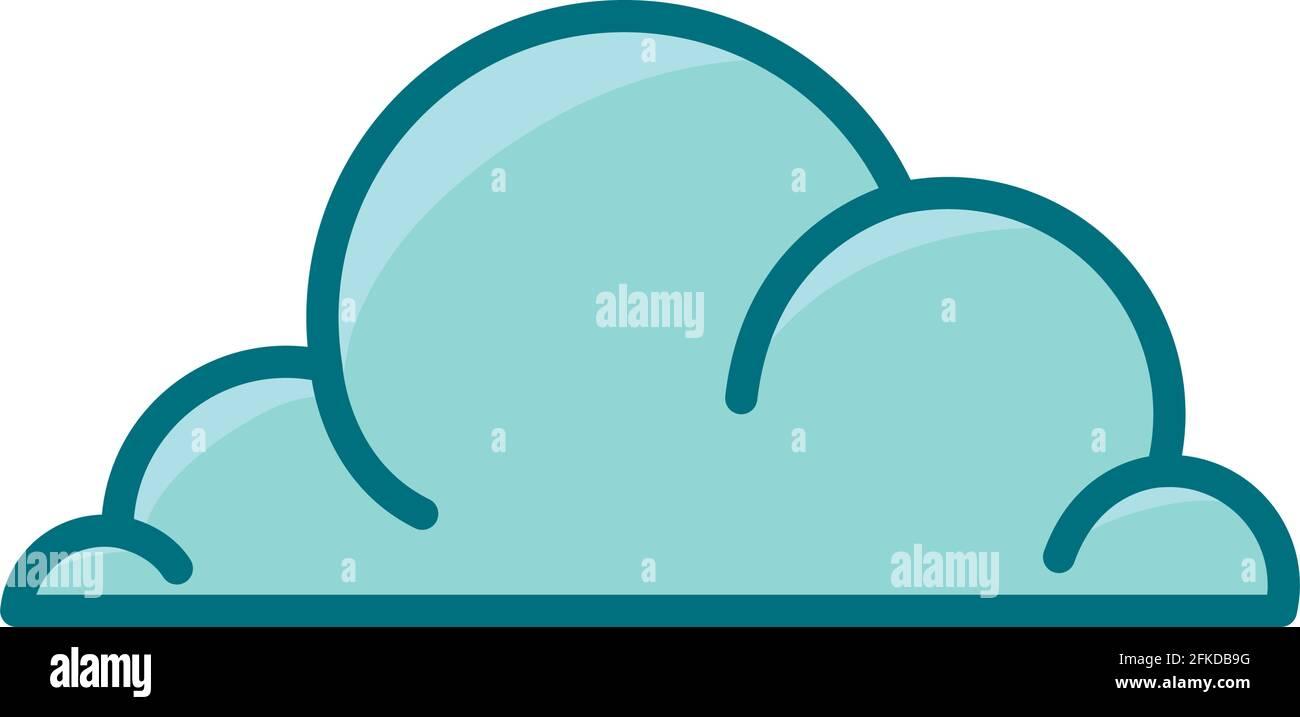 joli motif nuage Illustration de Vecteur