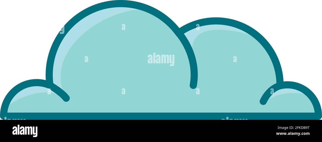 illustration du joli nuage Illustration de Vecteur