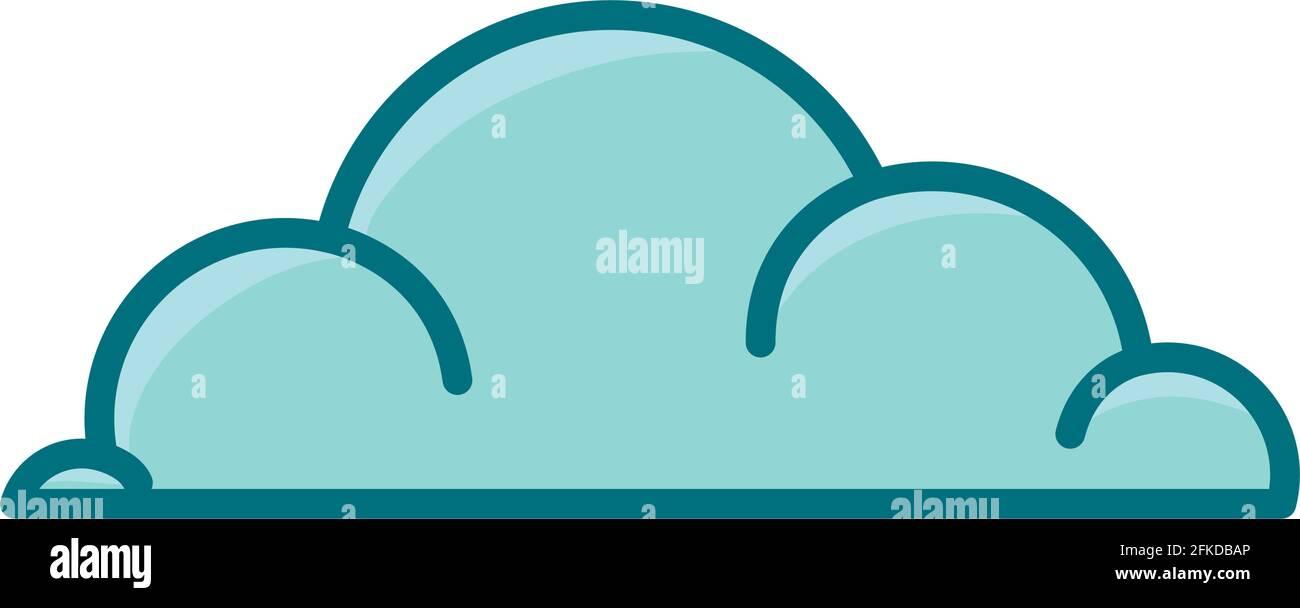 icône de nuage agréable Illustration de Vecteur