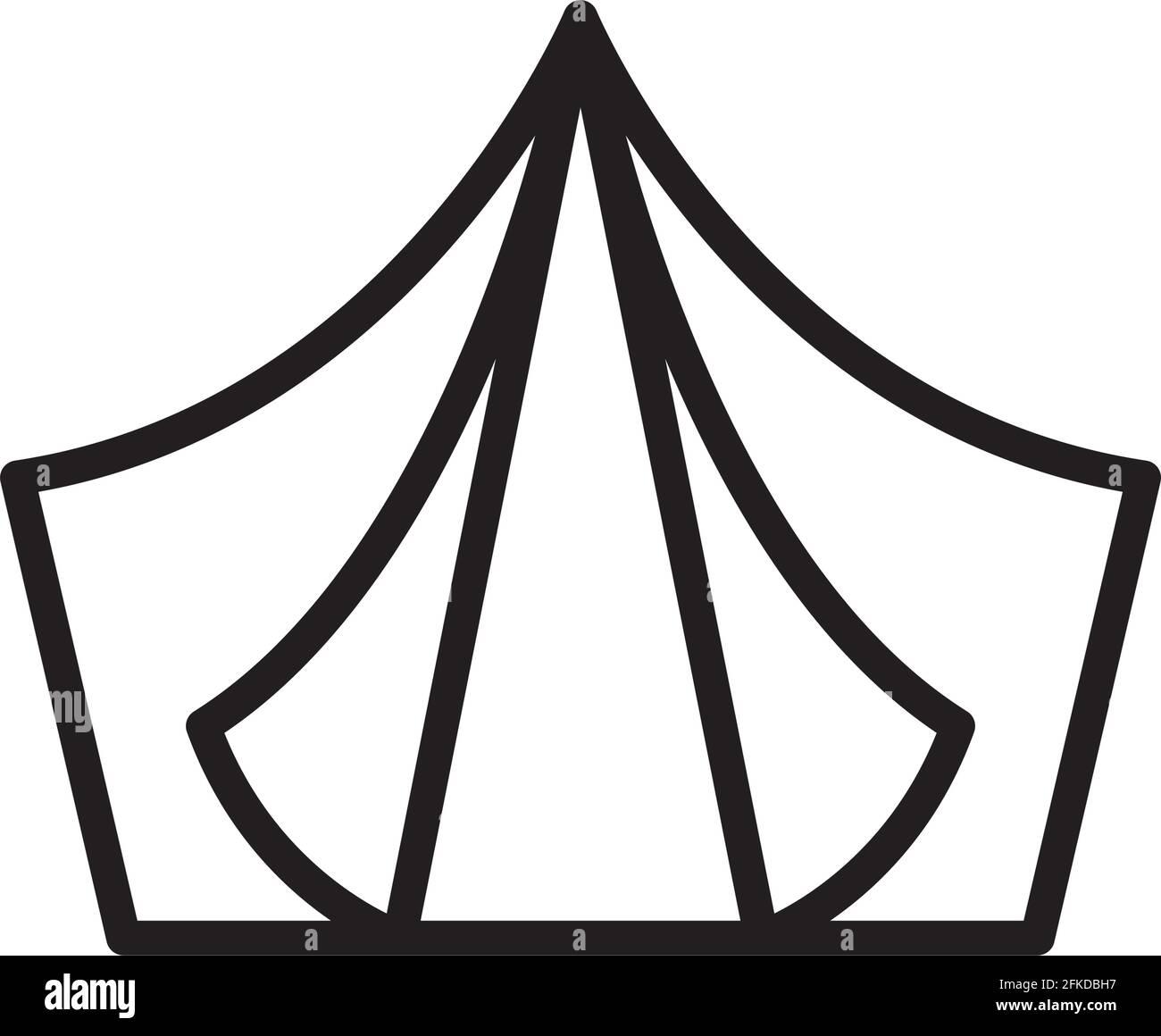 jolie silhouette de tente Illustration de Vecteur