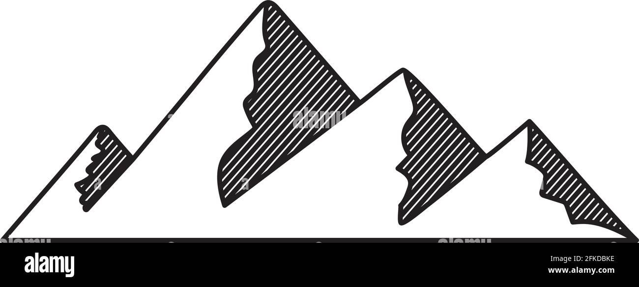 belle silhouette de montagne Illustration de Vecteur