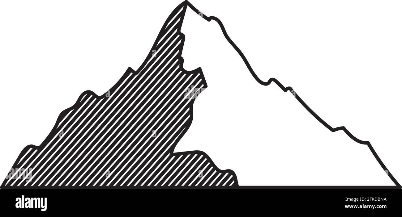 belle illustration de montagne Illustration de Vecteur