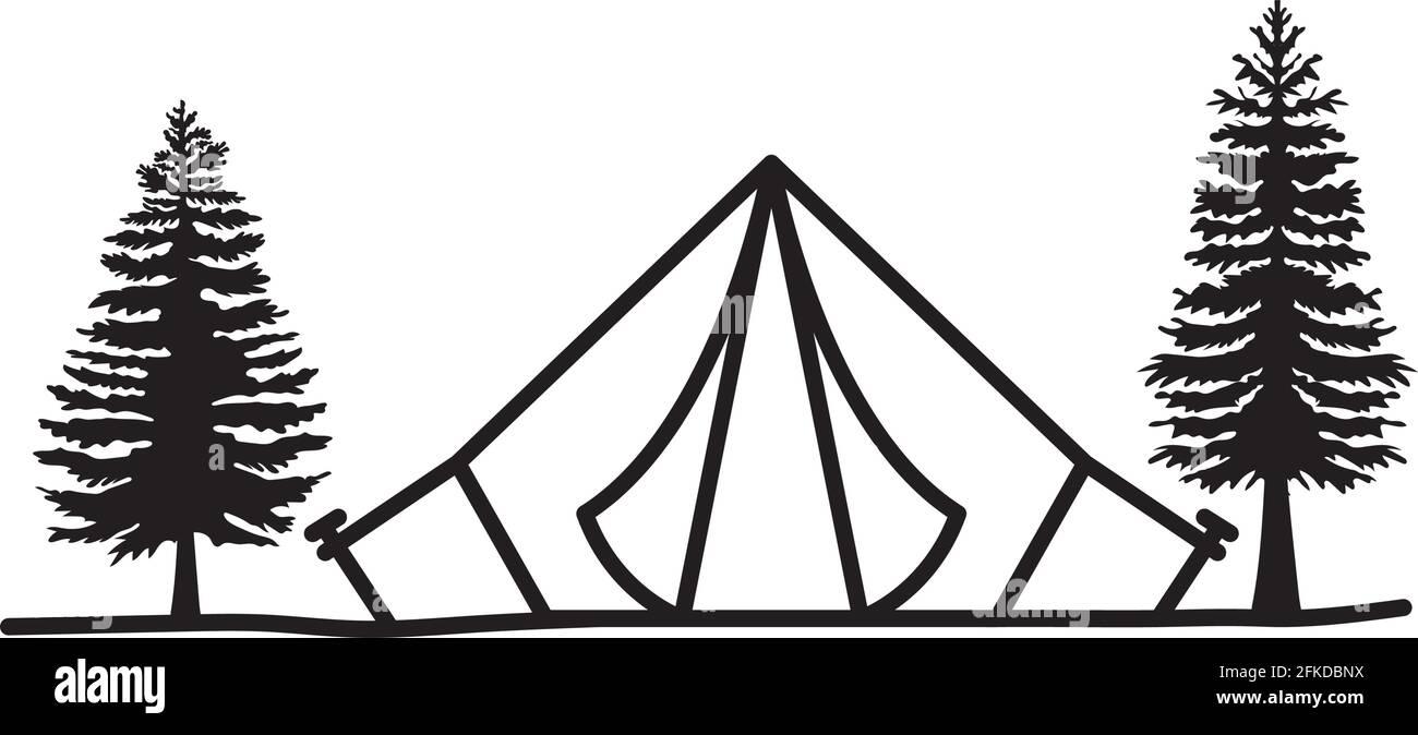 belle illustration de tente Illustration de Vecteur