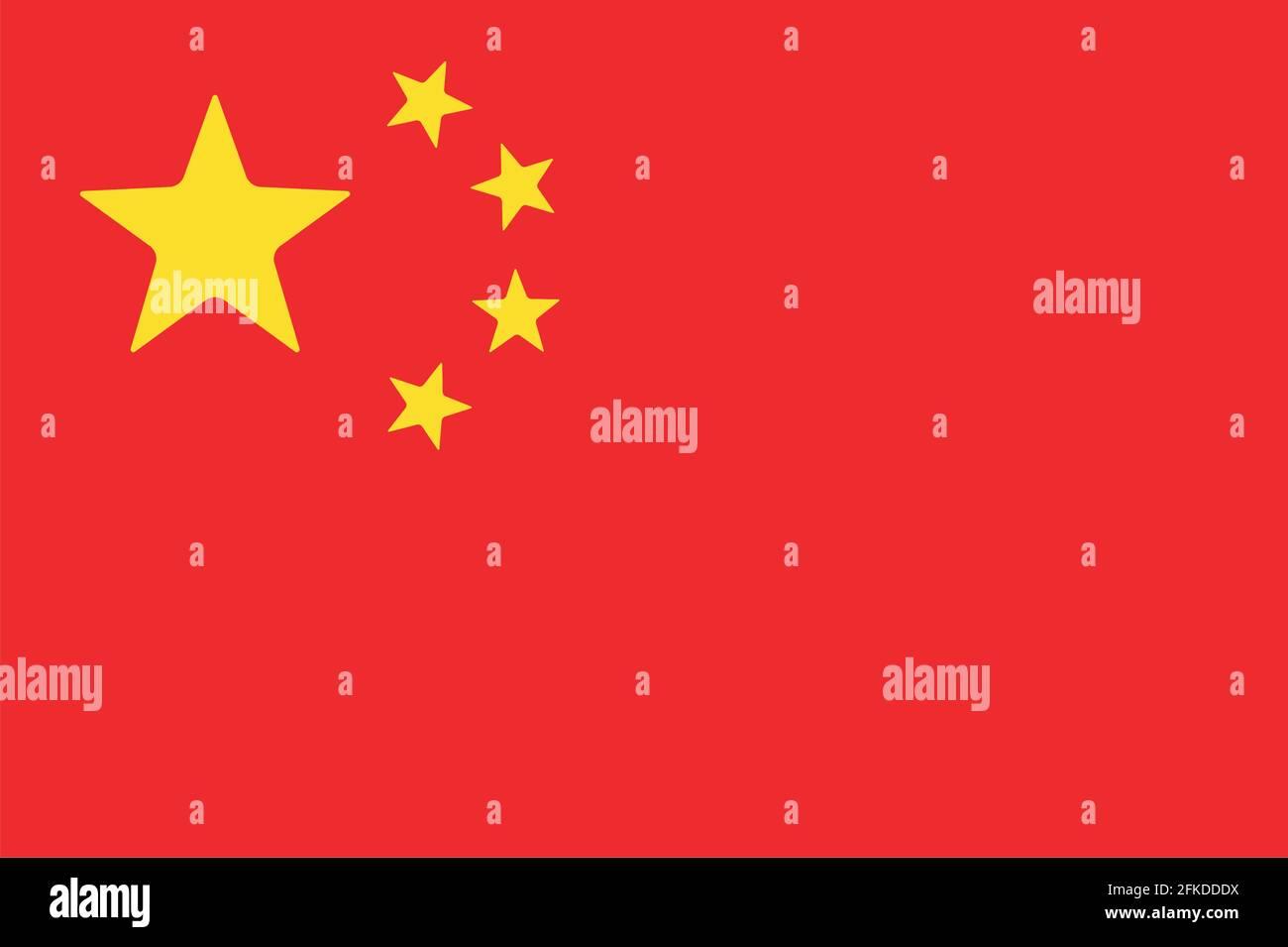 icône drapeau chinois Illustration de Vecteur