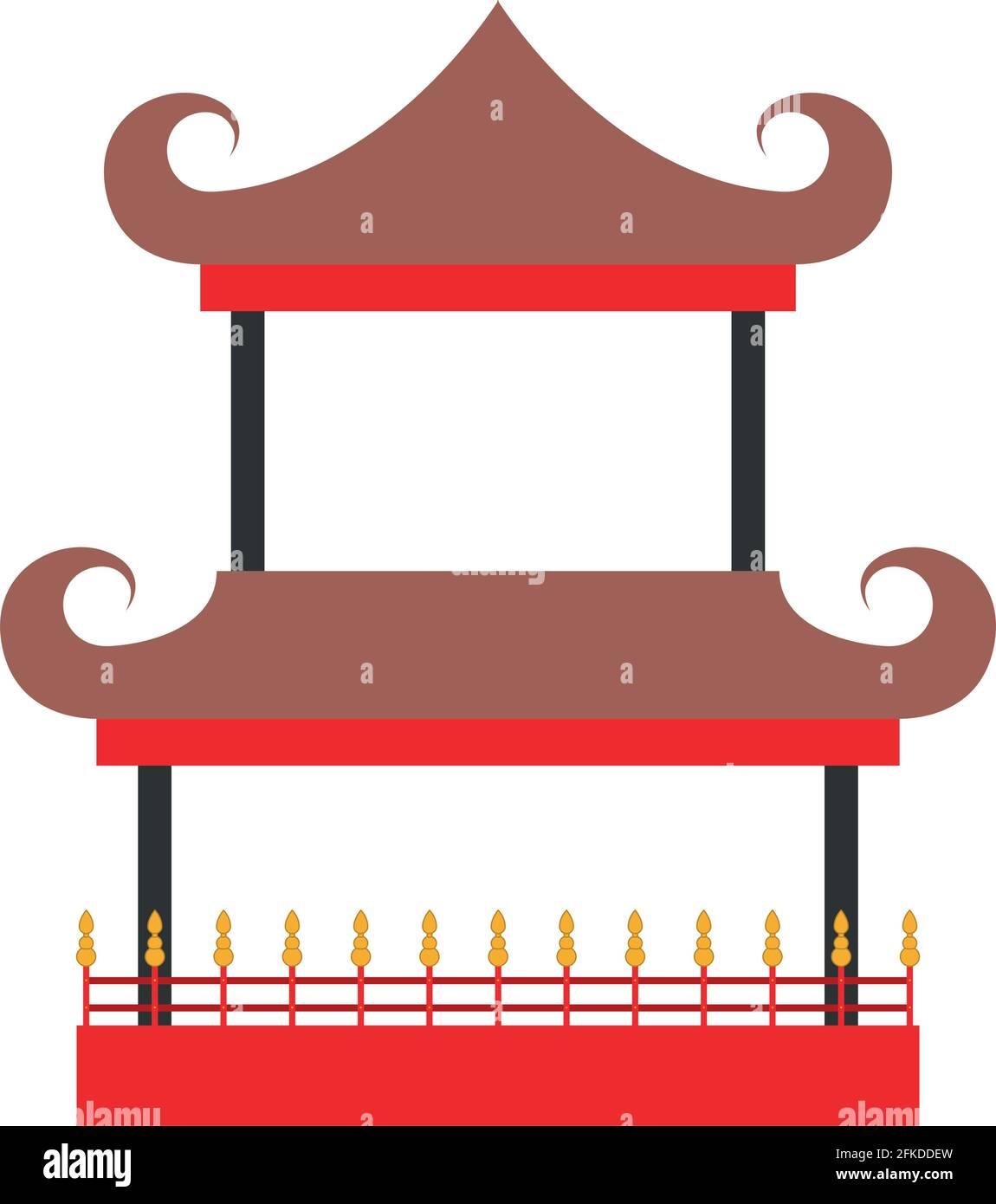 élégant château chinois Illustration de Vecteur