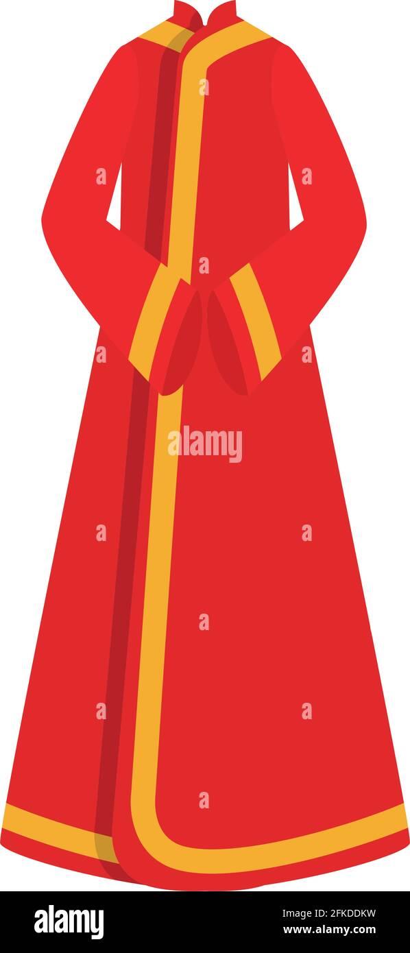 jolie robe chinoise Illustration de Vecteur