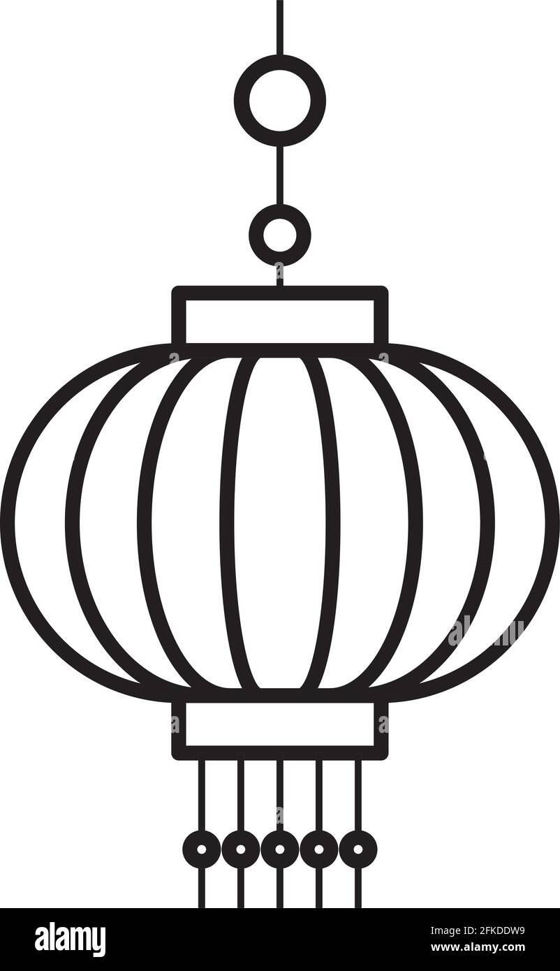 icône d'ornement chinois Illustration de Vecteur