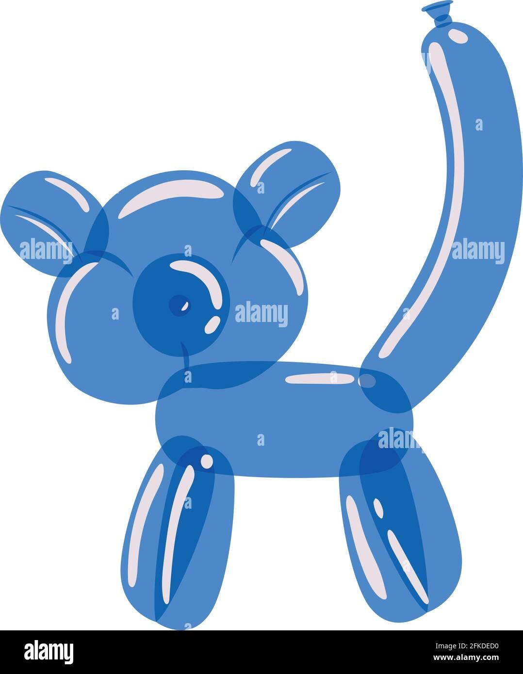 ballon singe bleu Illustration de Vecteur