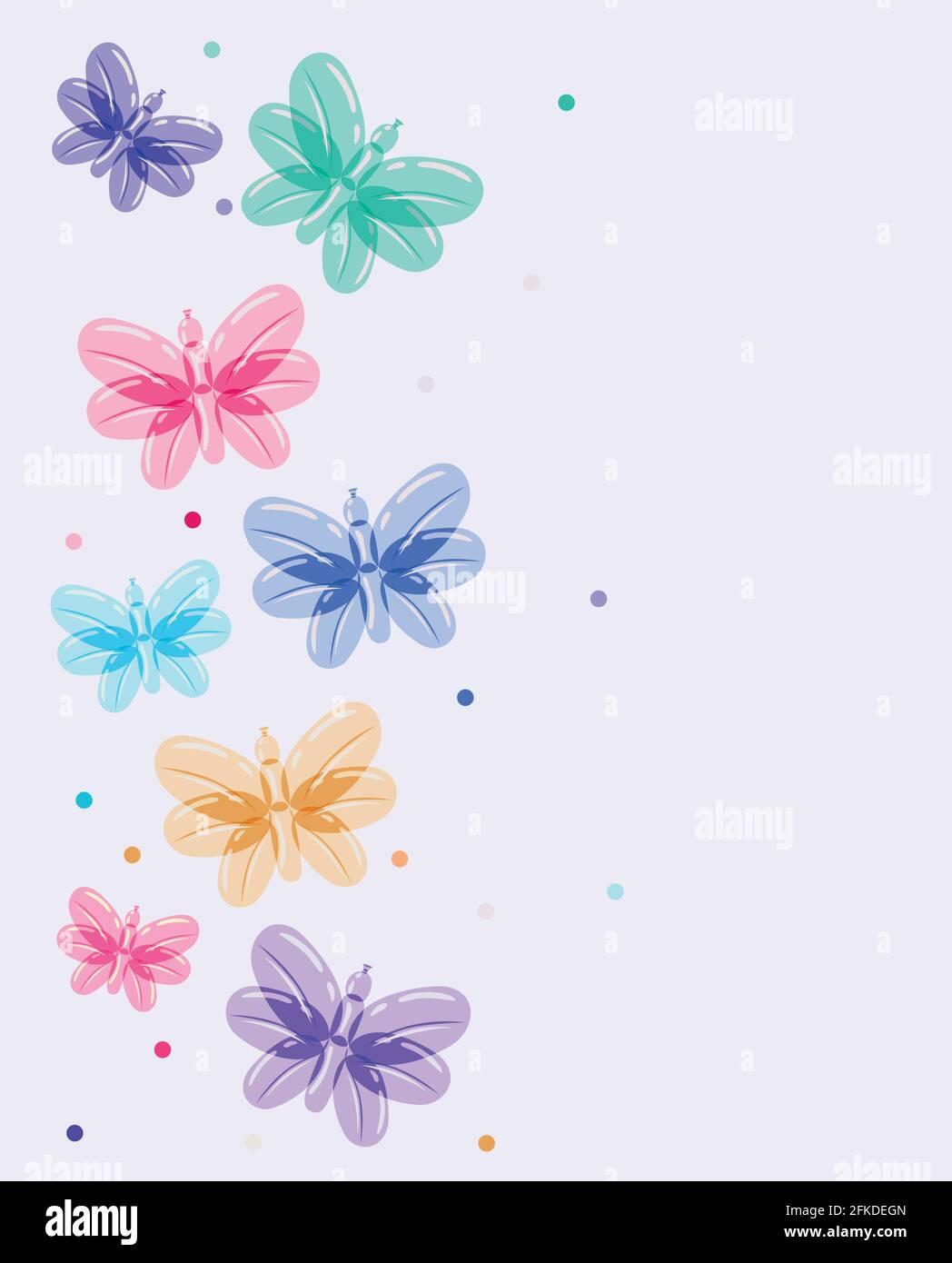 motif ballons papillons Illustration de Vecteur