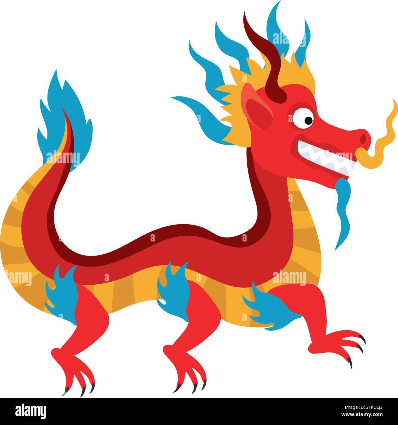 dragon chinois mythologique Illustration de Vecteur