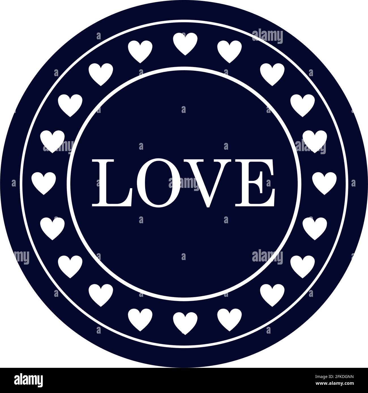 illustration du timbre d'amour Illustration de Vecteur