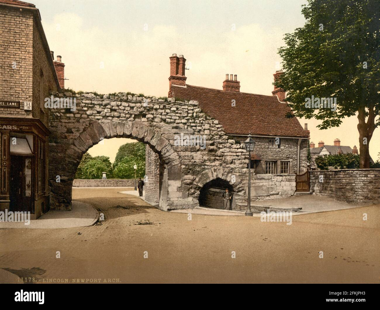 Newport Arch, Lincoln Lincoln vers 1890-1900 Banque D'Images