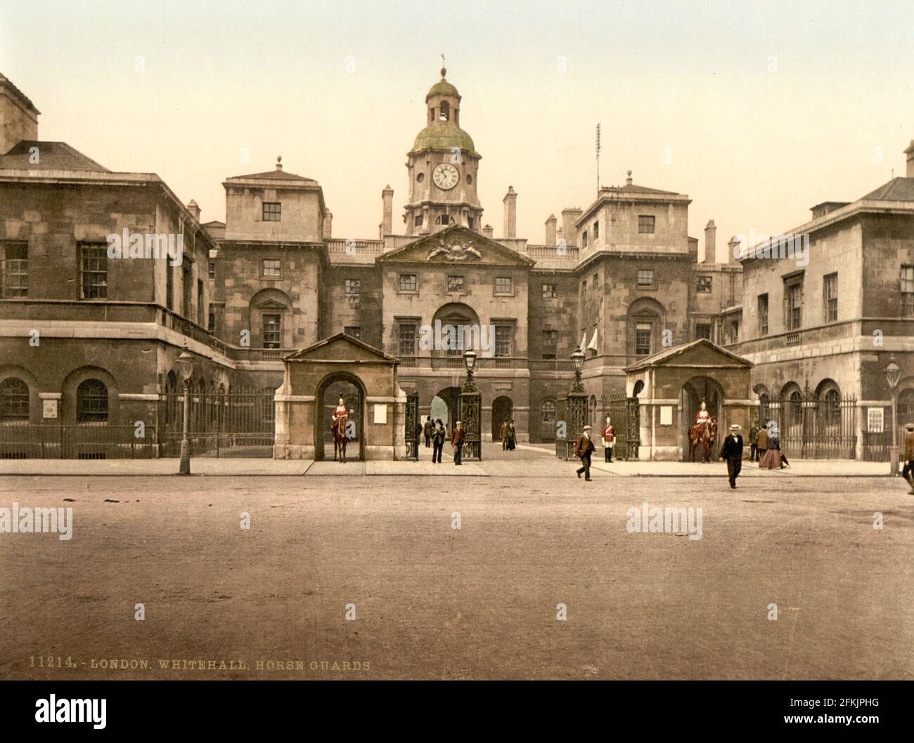 Horse Guards Parade, Whitehall, Londres vers 1890-1900 Banque D'Images