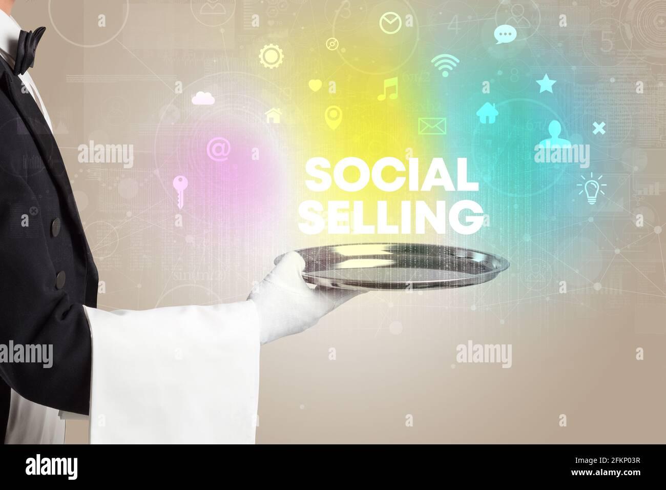 Concept de réseau social serveur Banque D'Images