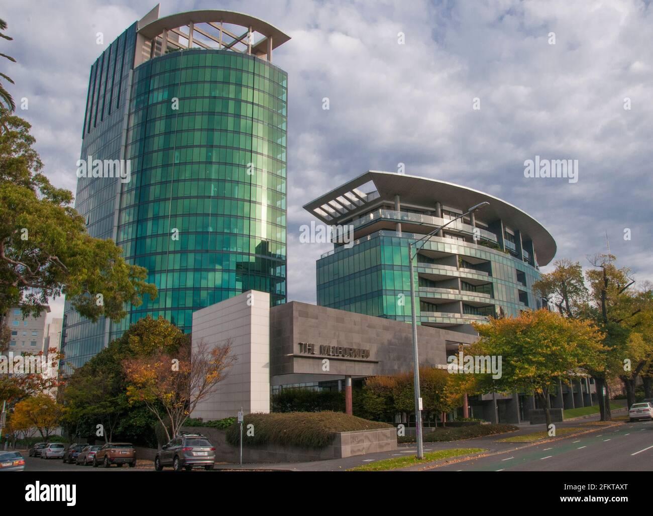 Le prestigieux complexe d'appartements Melburnian sur St Kilda Road, Melbourne Banque D'Images