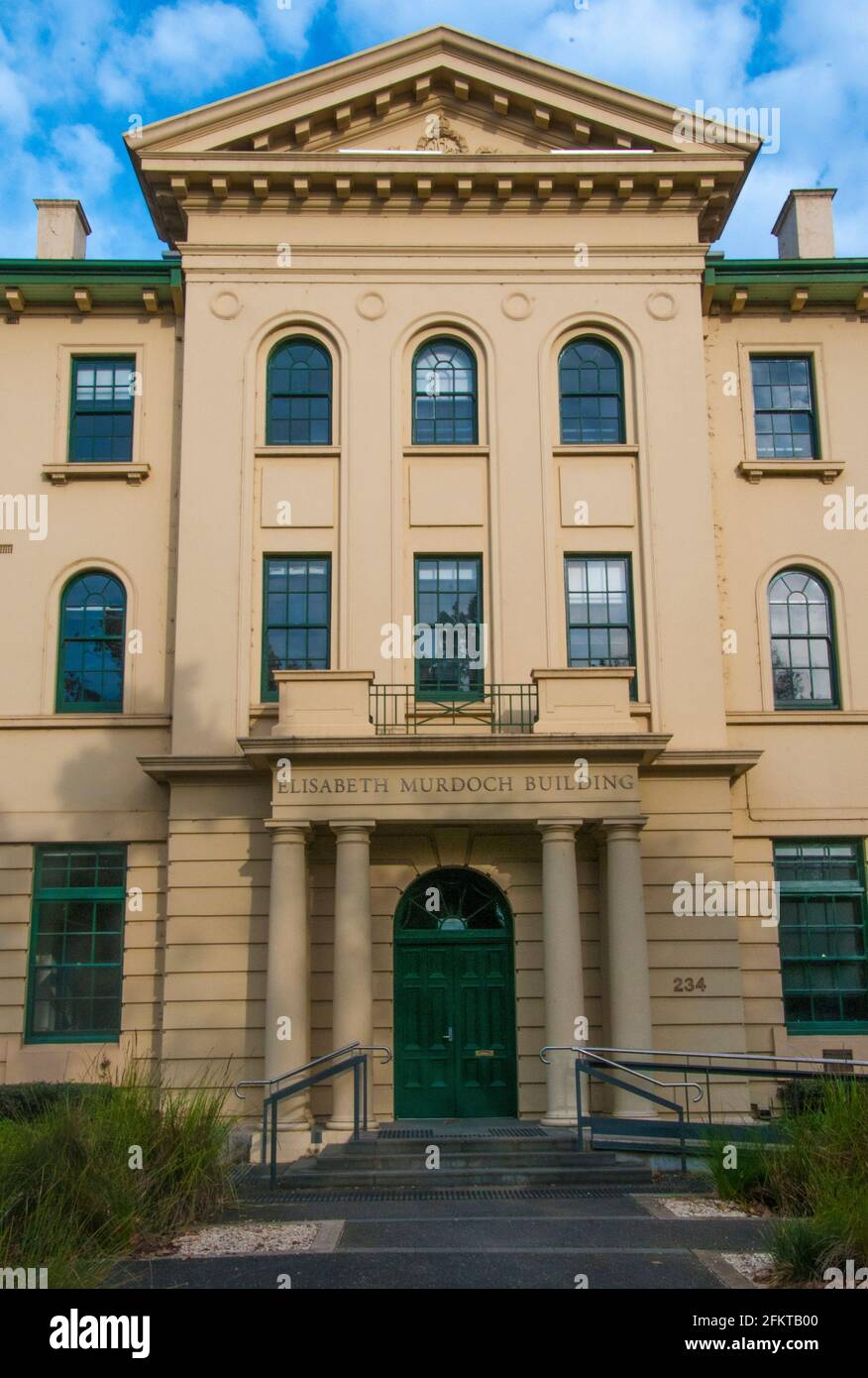 Bâtiment Elisabeth Murdoch au Victorian College of the Arts, sur St Kilda Road, dans le quartier de Southbank, Melbourne, Australie. Banque D'Images