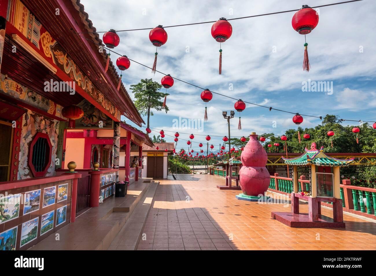 Temple chinois, Kampung Musi, Bau, Sarawak, Malaisie orientale Banque D'Images