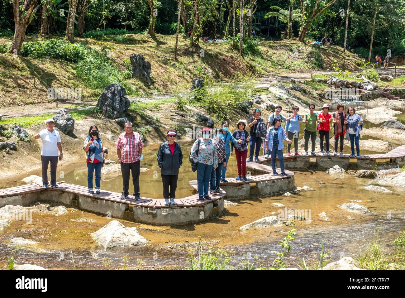 Exploration d'Abba Paradise, Taiton, Bau, Sarawak, Malaisie orientale Banque D'Images