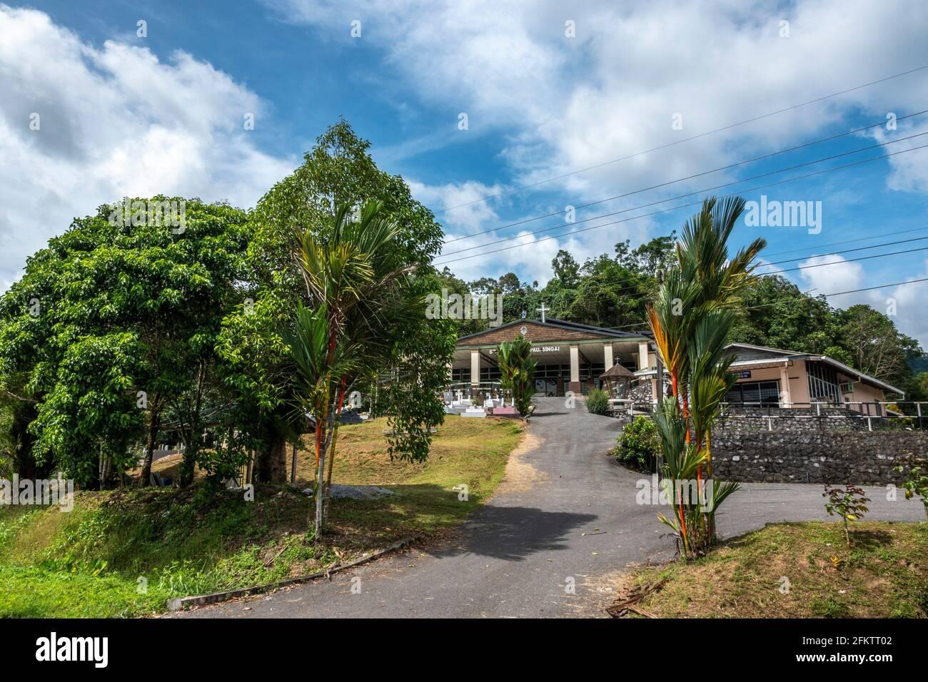 Une église à Kampung SIngai, Bau, Sarawak, Malaisie orientale Banque D'Images
