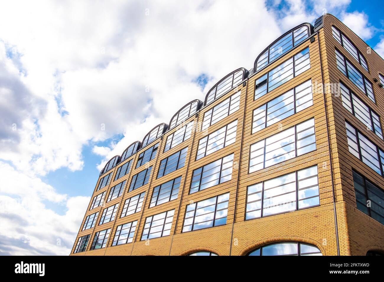 Architecture moderne à Tilburg, aux pays-Bas, en Europe. Banque D'Images