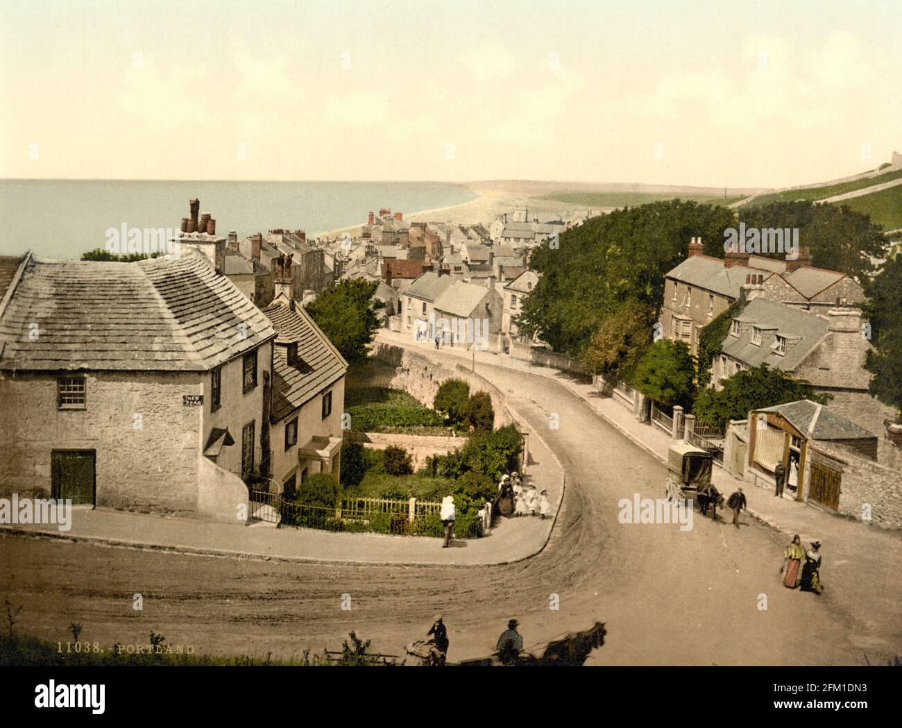 Portland à Dorset vers 1890-1900 Banque D'Images
