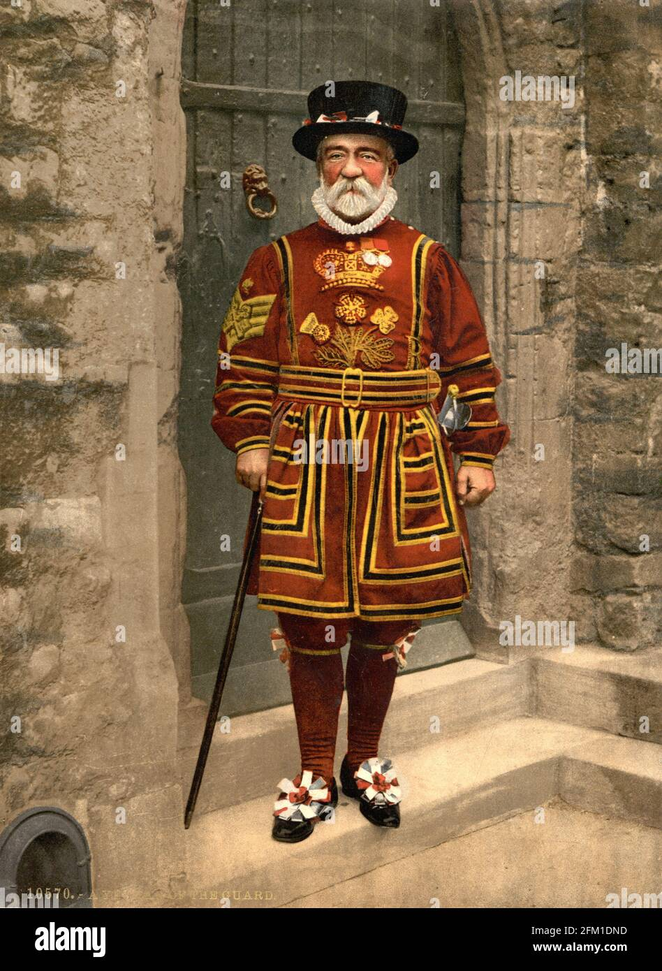 Yeoman of the Guard (Beefeater) Londres vers 1890-1900 Banque D'Images