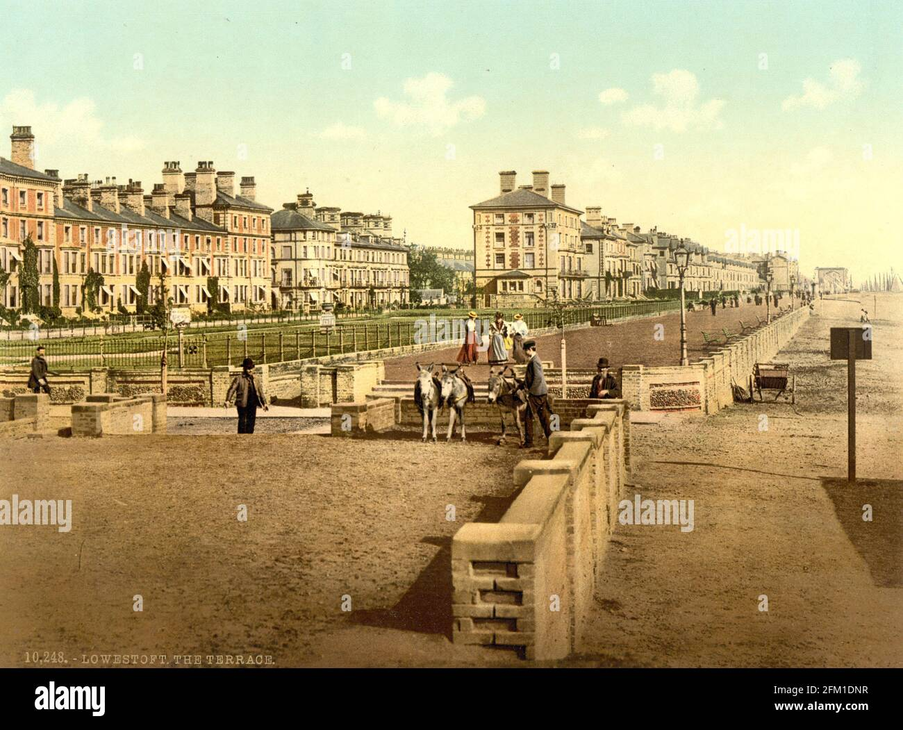 Lowestoft dans le Suffolk vers 1890-1900 Banque D'Images