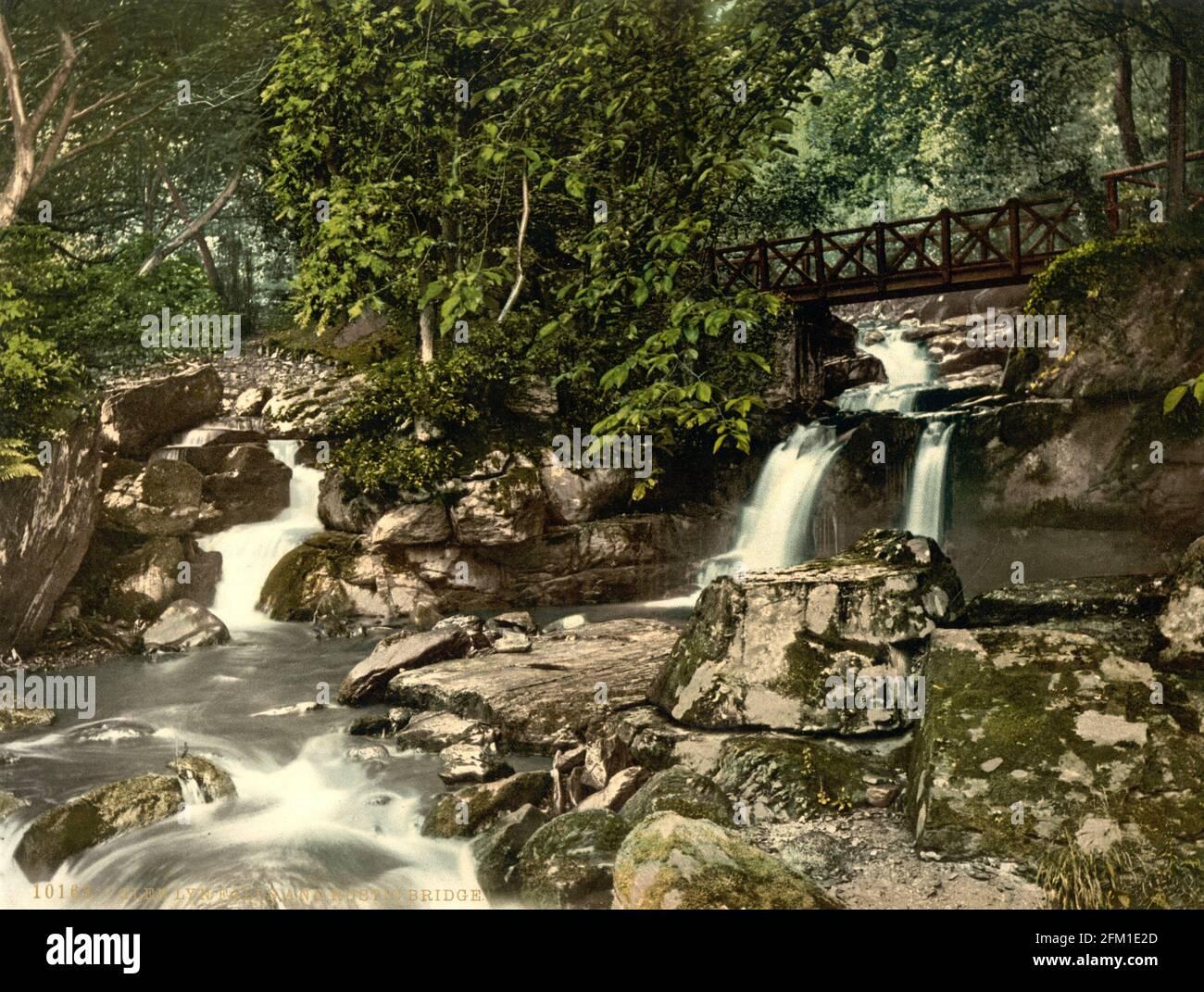 Glen Lyn gorge près de Lynmouth dans le Devin vers 1890-1900 Banque D'Images