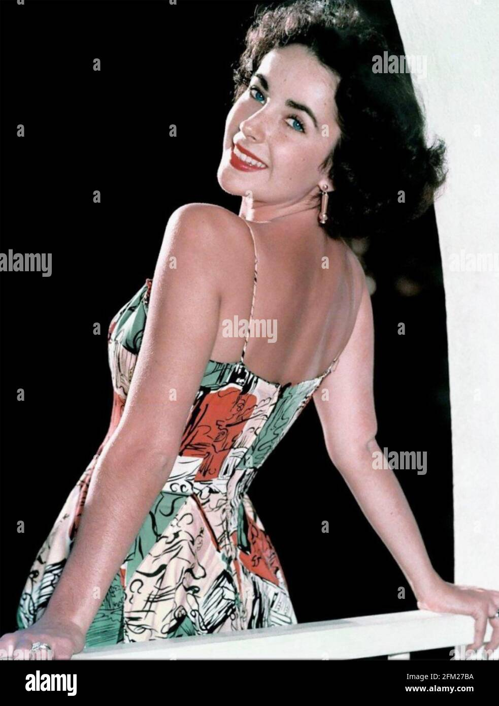 ELIZABETH TAYLOR (1932-2011) Actrice anglo-américaines vers 1950 Banque D'Images