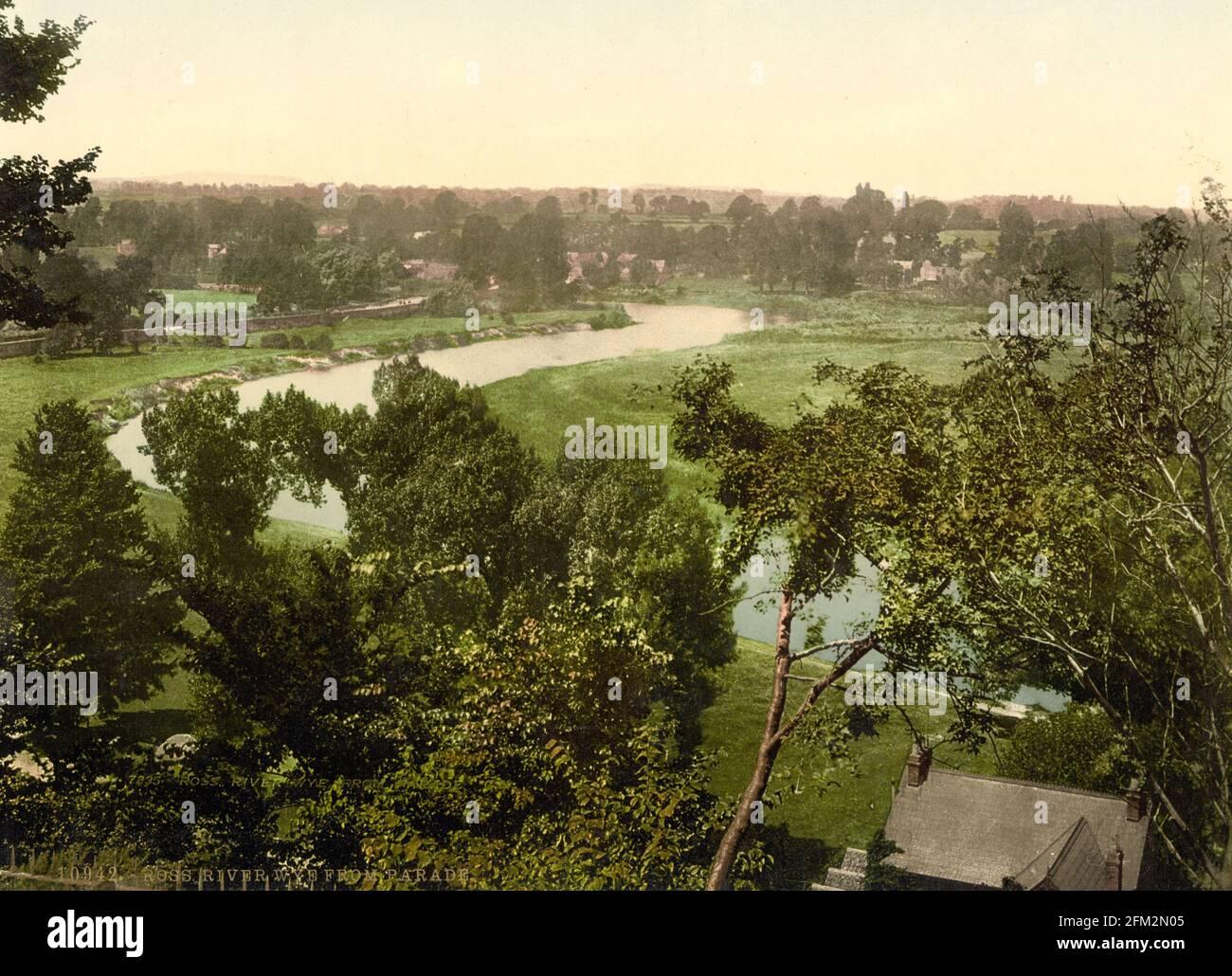 Le Wye de la rivière, vu de Ross-on-Wye vers 1890-1900 Banque D'Images