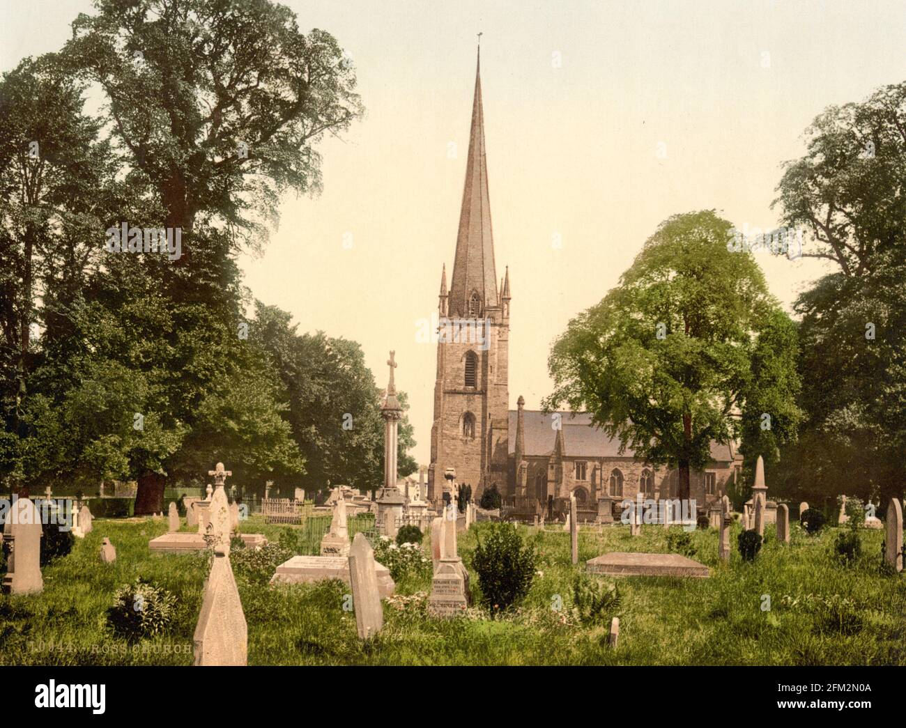 Église Sainte-Marie, Ross-on-Wye, Herefordshire vers 1890-1900 Banque D'Images