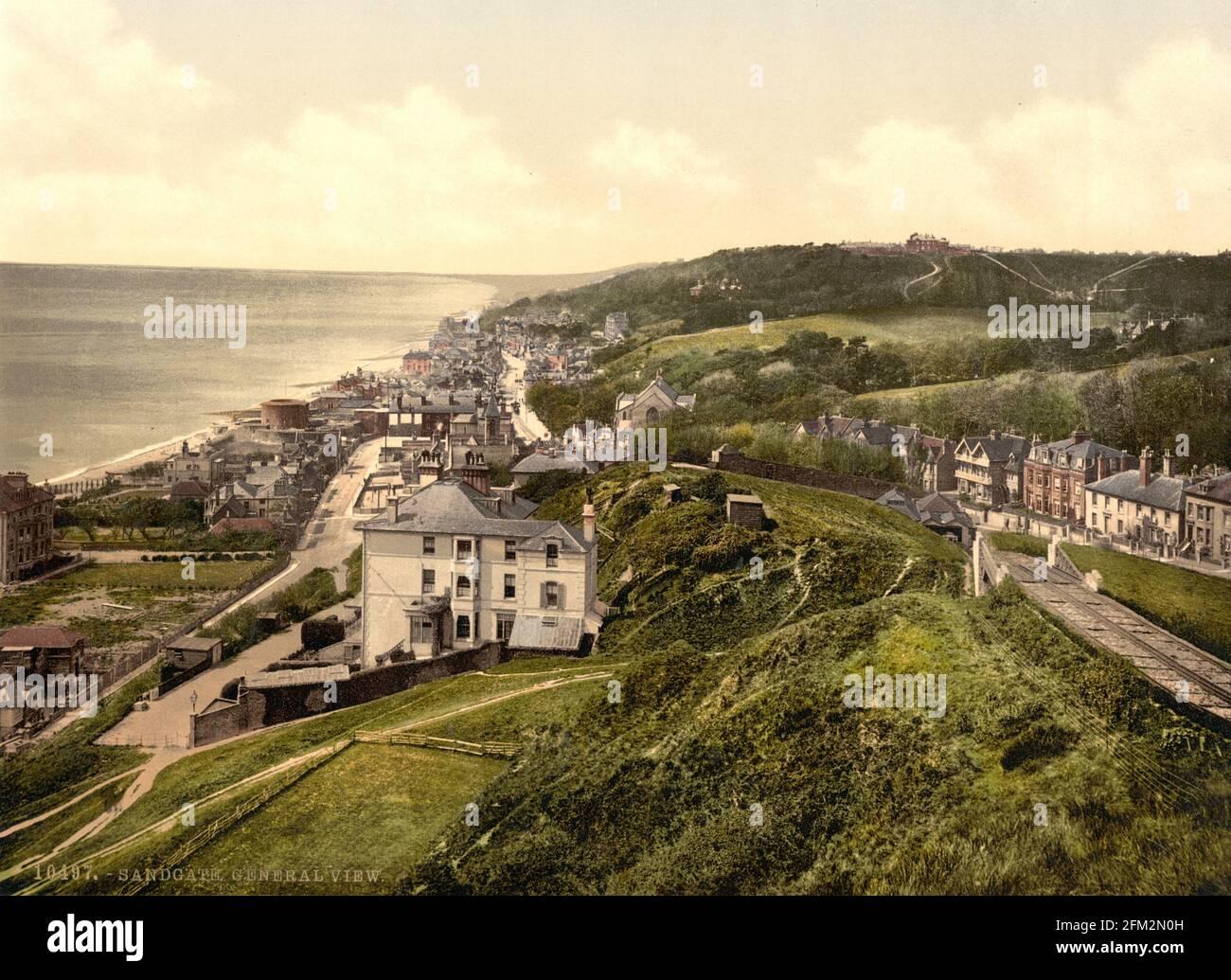 Sandgate, Kent vers 1890-1900 Banque D'Images
