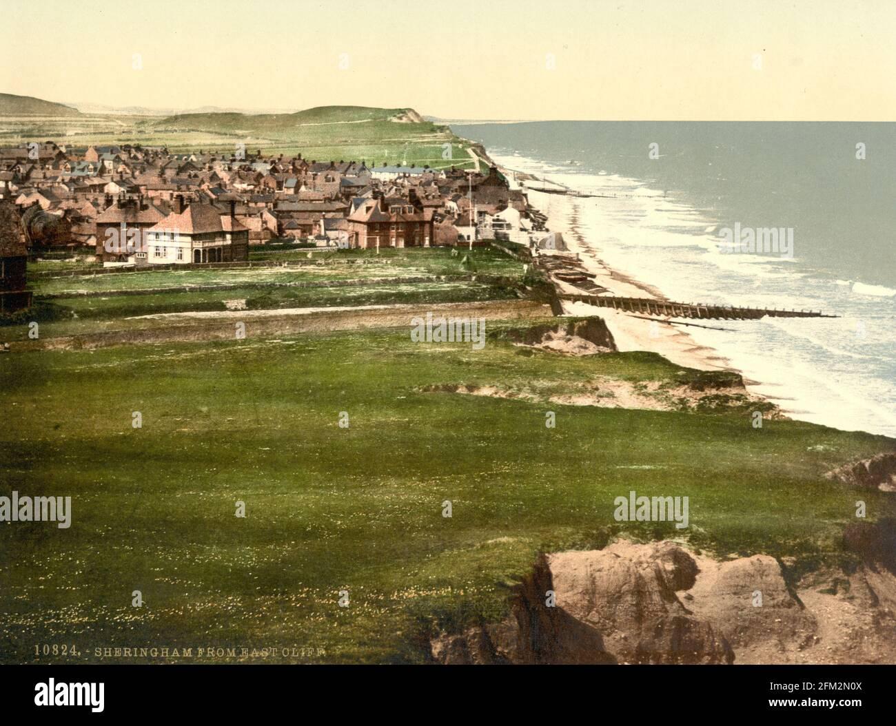 Sheringham à Norfolk vers 1890-1900 Banque D'Images