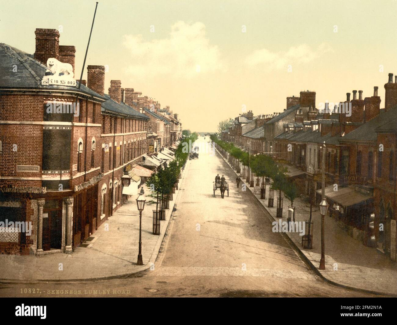 Lumley Road dans Skegness, Lincolnshire vers 1890-1900 Banque D'Images