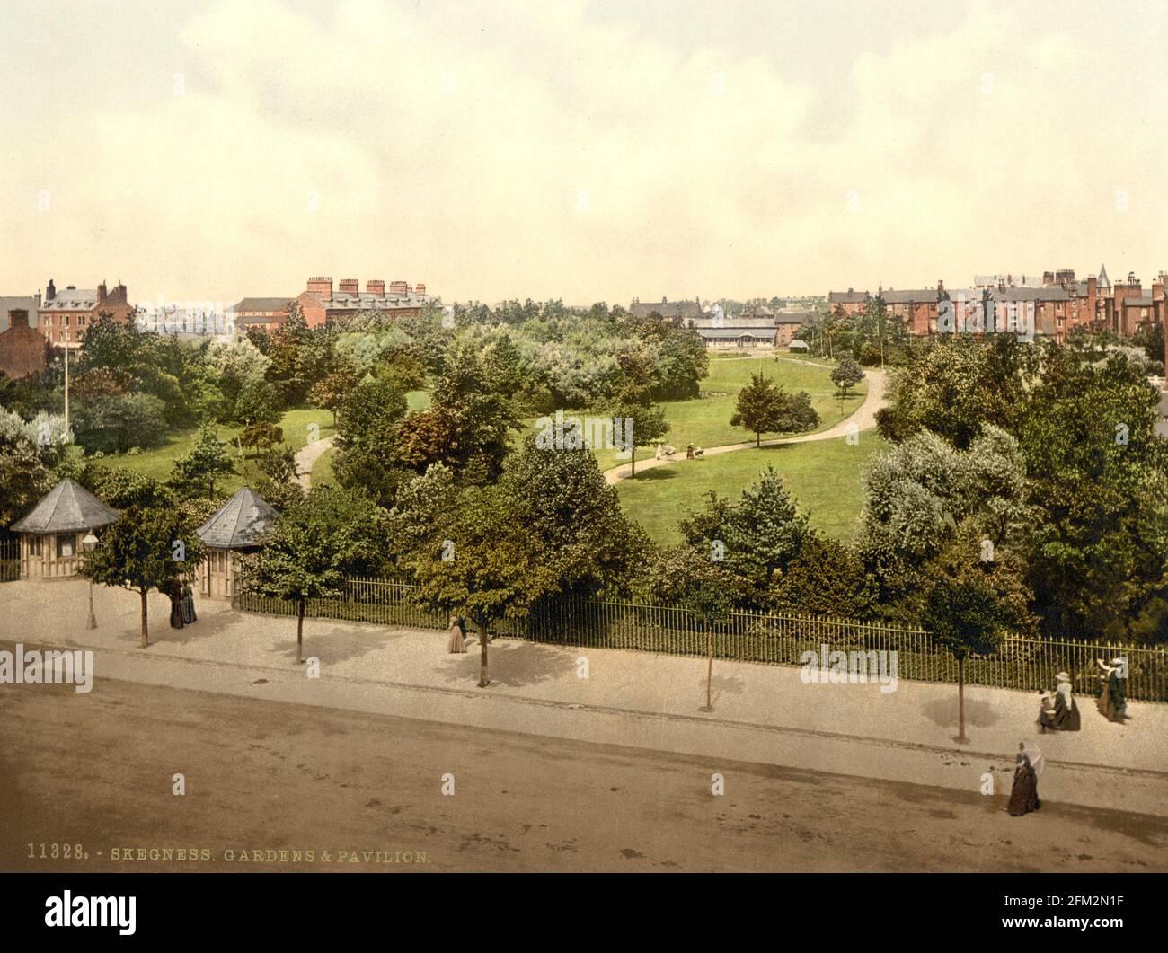 Skegness Gardens , Lincolnshire vers 1890-1900 Banque D'Images