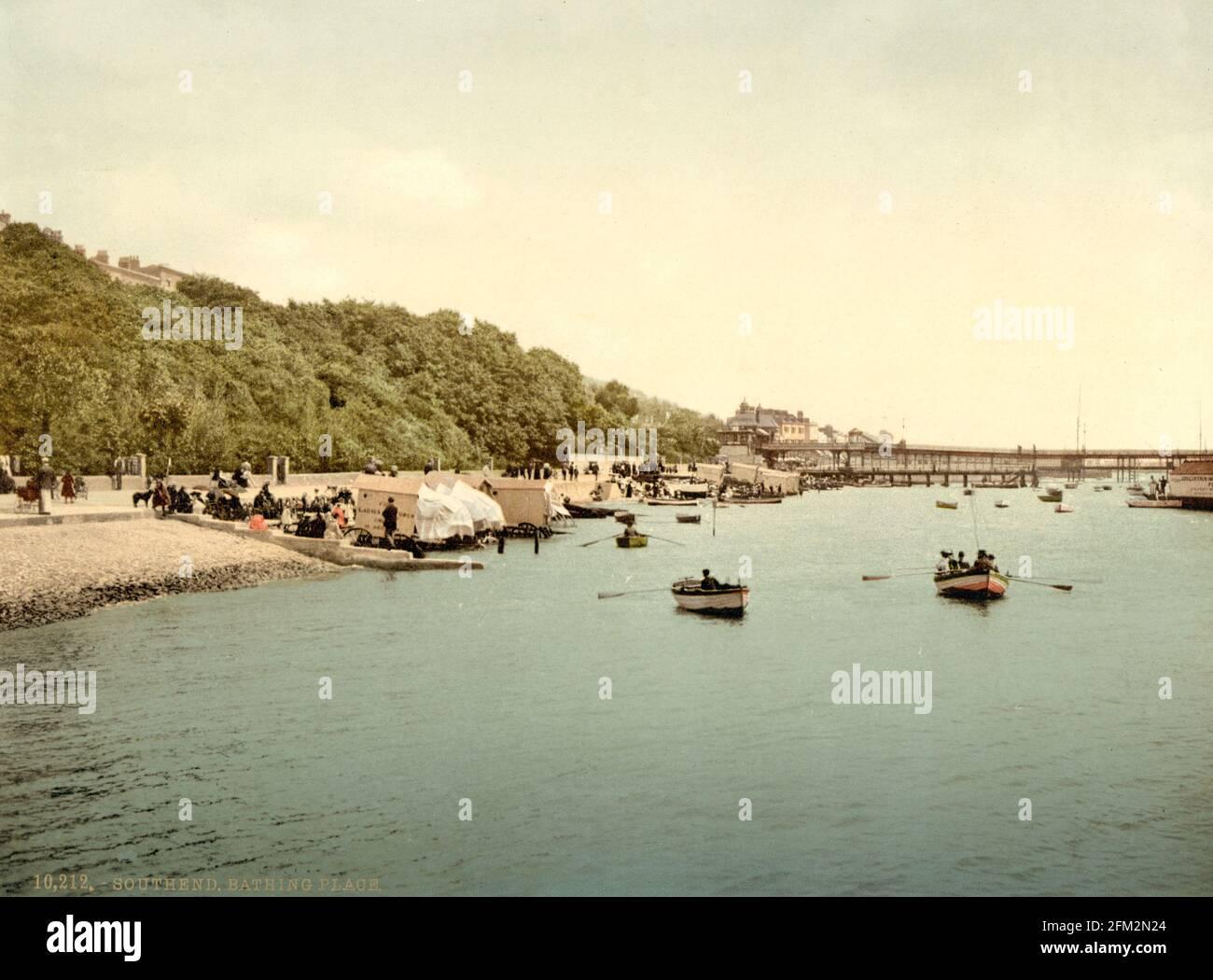 Southend-on-Sea, Essex vers 1890-1900 Banque D'Images