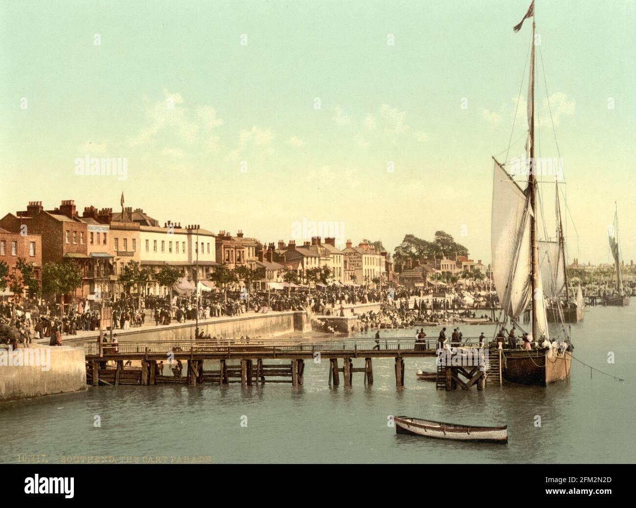 Défilé maritime Southend-on-Sea, Essex vers 1890-1900 Banque D'Images