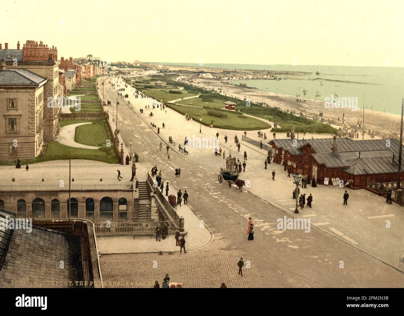 Southport Sea Front, Merseyside, vers 1890-1900 Banque D'Images