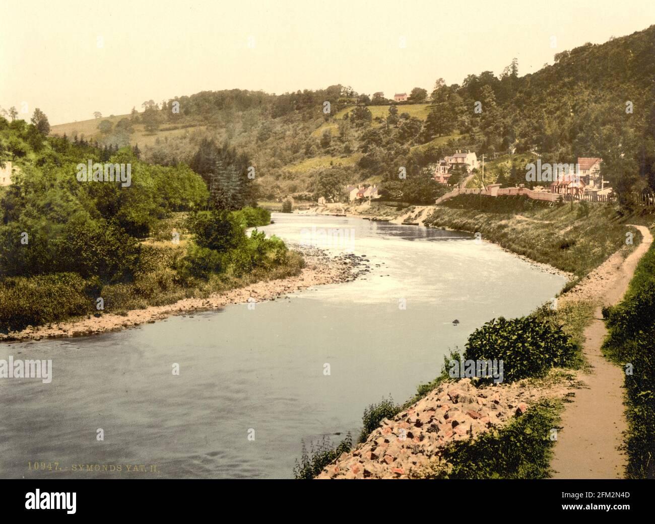 Symonds Yat et la rivière Wye, Herefordshire vers 1890-1900 Banque D'Images