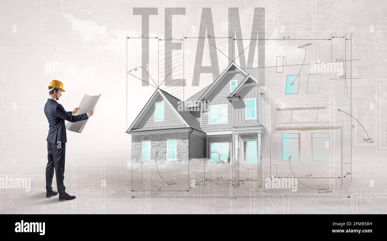 Concept de plan directeur pour les jeunes ingénieurs Banque D'Images