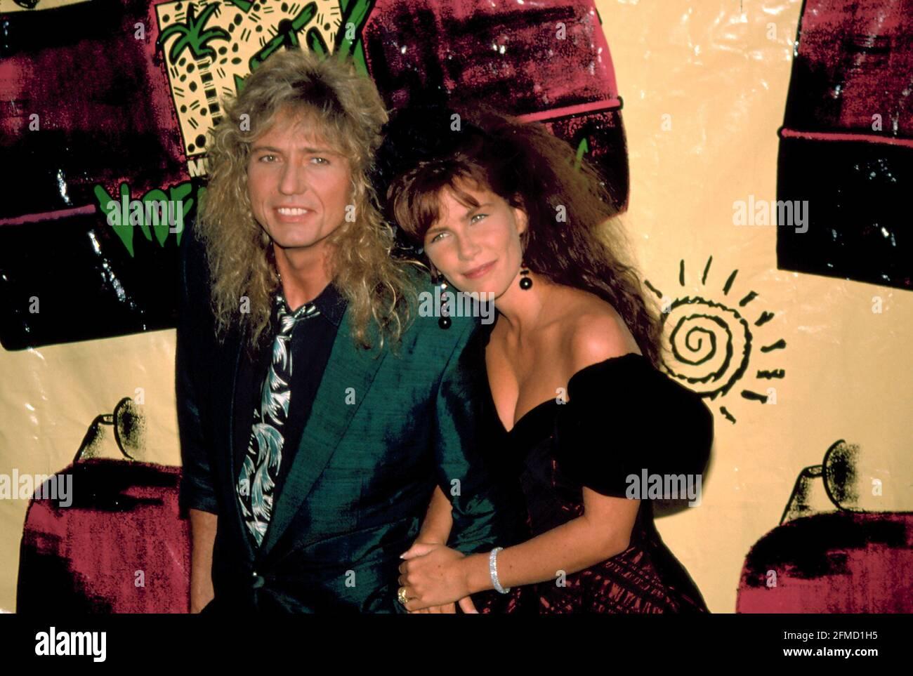 David Coverdale et Tawny Kitaen 1988. Crédit: Scott Weiner / MediaPunch Banque D'Images