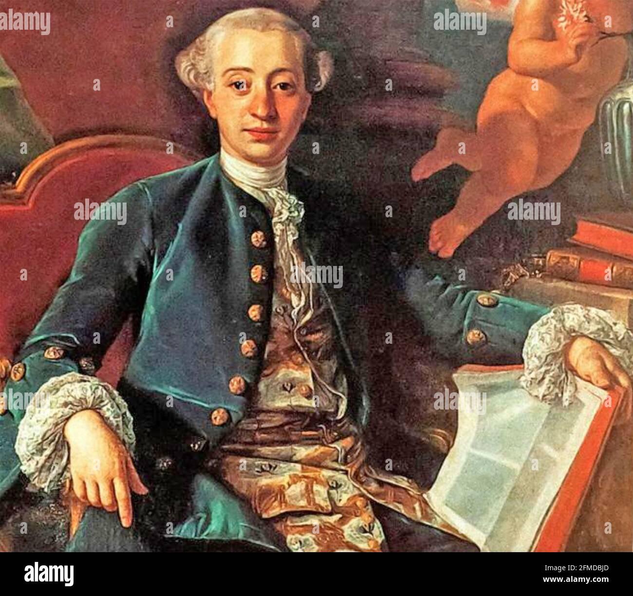 GIACOMO CASANOVA (1725-1798) aventurier italien peint par Francesco Narici About 1760 Banque D'Images