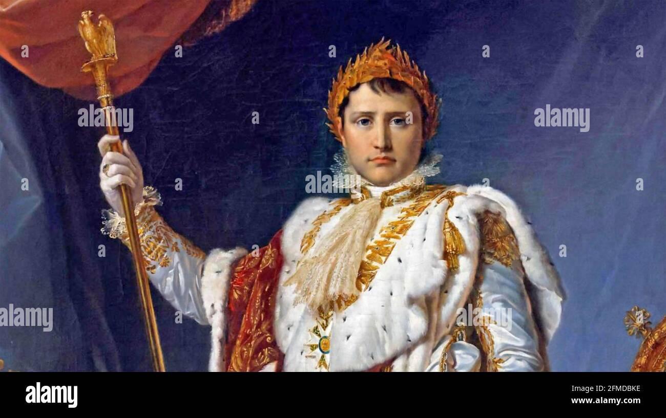 NAPOLÉON 1 (1769-1821 dans ses robes impériales par François Gerard, 1805 Banque D'Images